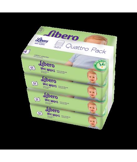 Libero nedves törlőkendő Quattro Pack