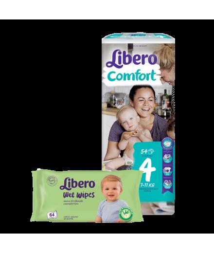 Libero Jumbo Pack pelenka és Libero nedves törlőkendő