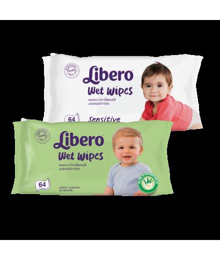 Libero sensitive nedves törlőkendő