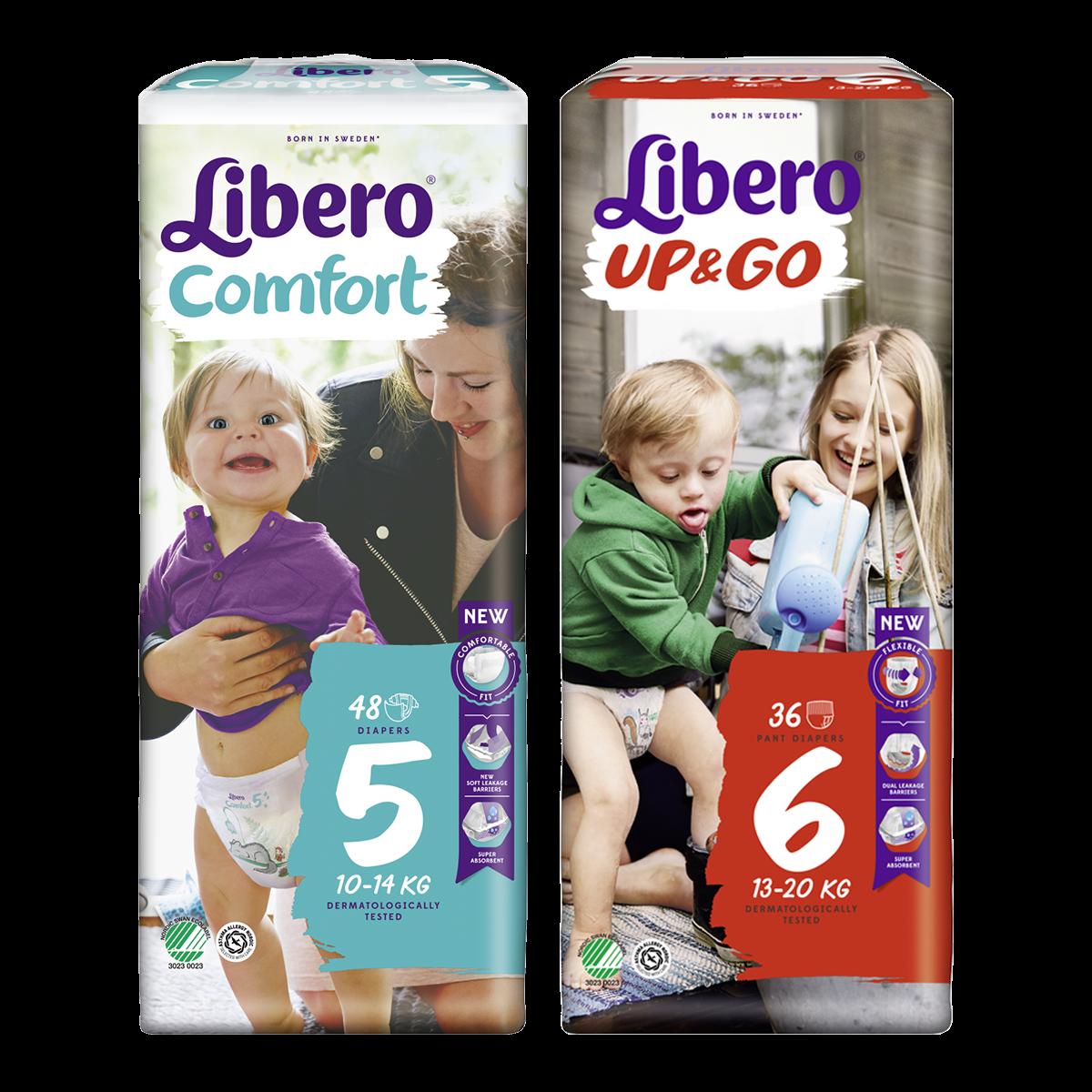Libero Up&Go és Comfort pelenkacsomagok