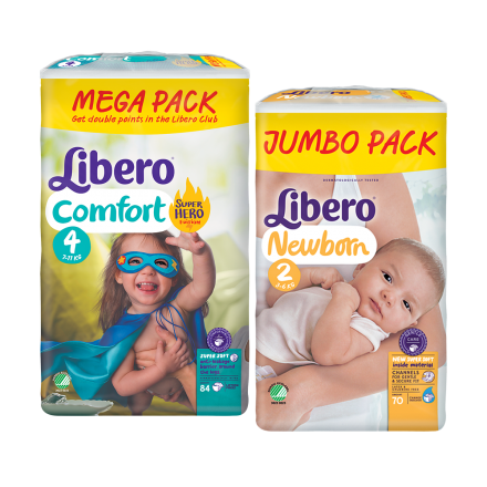 Minden Libero Newborn és Comfort pelenkára